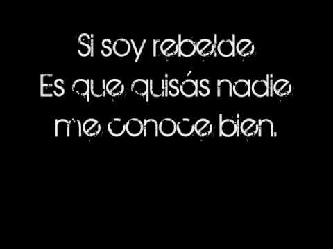 RBD-Rebelde (with lyrics)