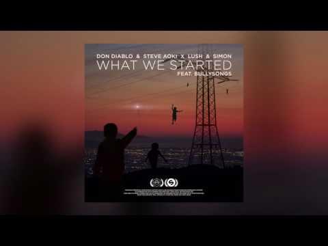 Don Diablo & Steve Aoki x Lush & Simon — What We Started feat. BullySongs (Cover Art)