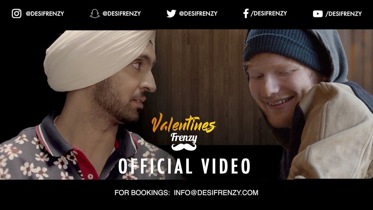 VALENTINES FRENZY (feat. Diljit Dosanjh & Ed Sheeran) | DJ FRENZY | OFFICIAL VIDEO