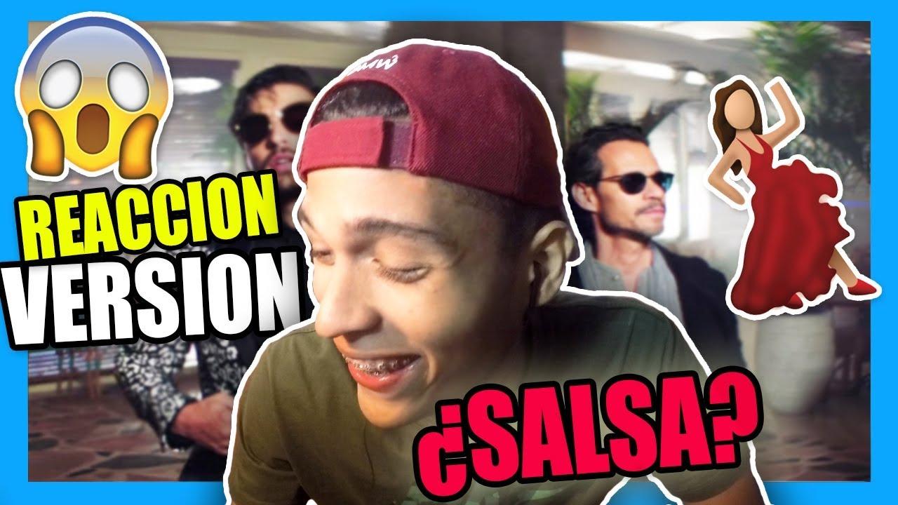 REACCIONANDO A Maluma — Felices los 4 (Salsa Version)[Official Video] ft. Marc Anthony