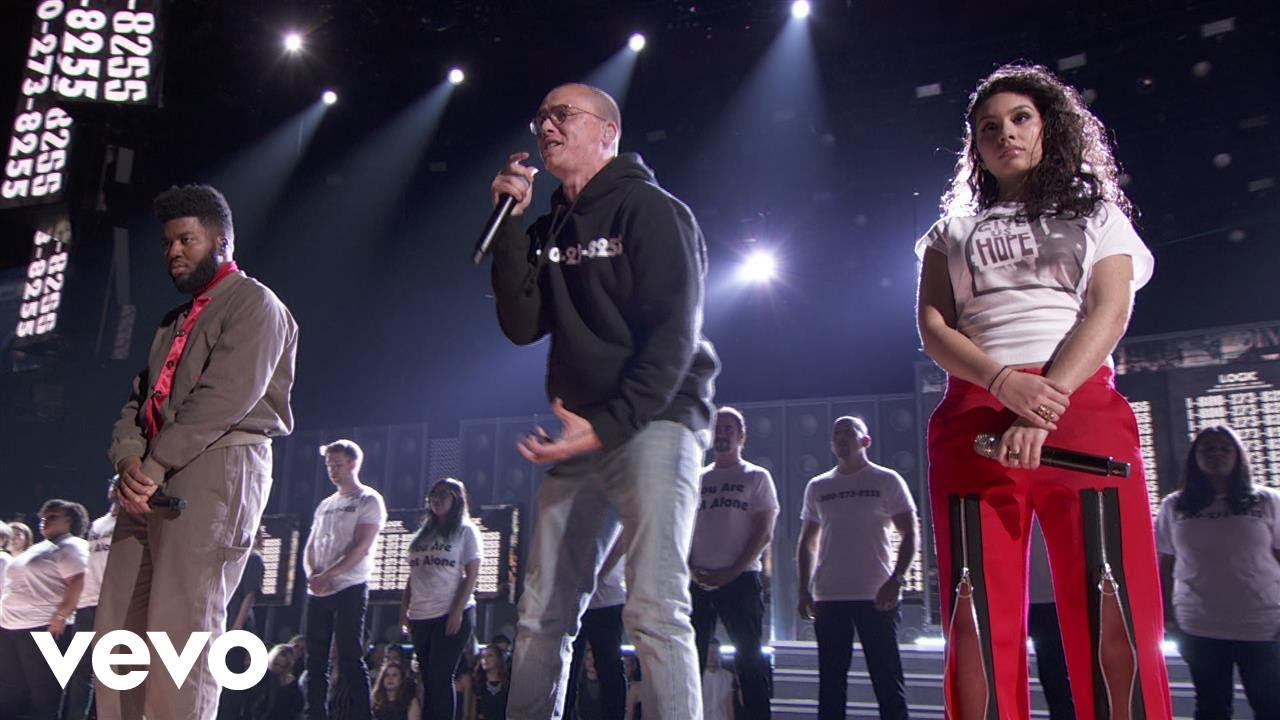 Logic — 1-800-273-8255 (LIVE From The 60th GRAMMYs ®) ft. Alessia Cara, Khalid